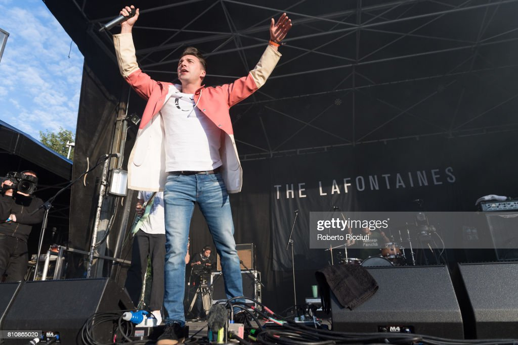 Kerr Okan of Scottish band The LaFontaines performs on stage during TRNSMT Festival Day 2 at Glasgow Green on July 8, 2017 in Glasgow, Scotland.