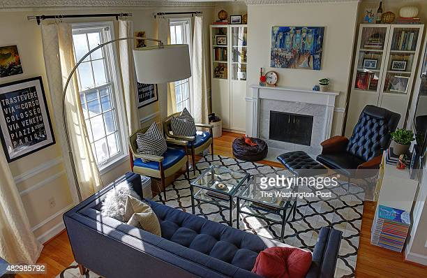 Kerra Michele Huerta and her tiny apartment on October 2013 in Washington DC Pictured a view of the living room
