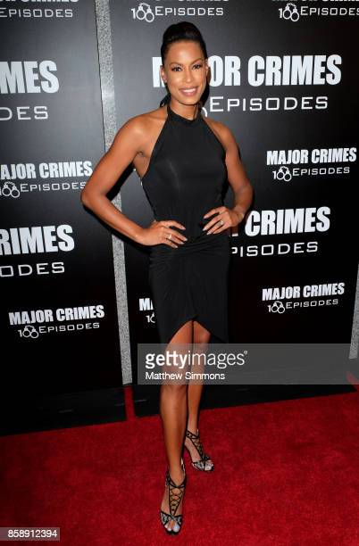 Kerran Giovanni at TNT's 'Major Crimes' 100th episode celebration at 71Above on October 7 2017 in Los Angeles California