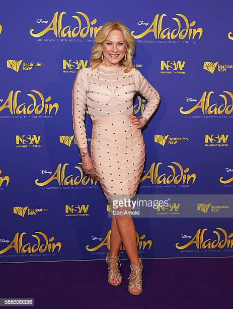 Kerri Anne Kennerley arrives at the Opening Night of Aladdin at State Theatre on August 11 2016 in Sydney Australia