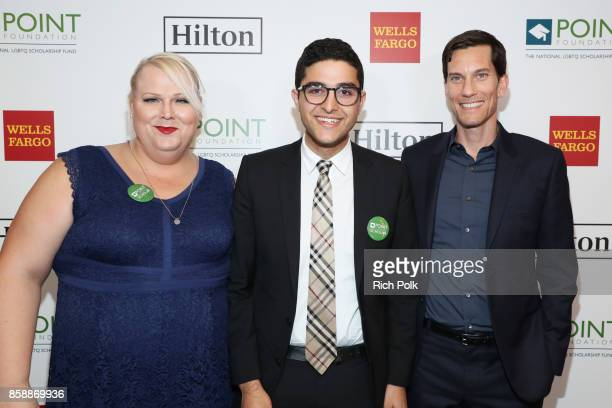Kerri Cecil Omar Salman and Pete Nowalk speaks onstage at Point Honors Los Angeles 2017 benefiting Point Foundation at The Beverly Hilton Hotel on...
