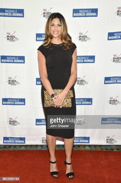 Kerri Edwards of KP Entertainment arrives at the 2017 Nashville Business Journal Women In Music City on October 17 2017 in Nashville Tennessee