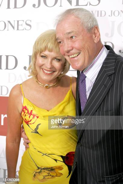 KerriAnne Kennerley and husband John Kennerley during David Jones Winter 2005 Collections Launch Arrivals and Runway at Sydney Town Hall in Sydney...