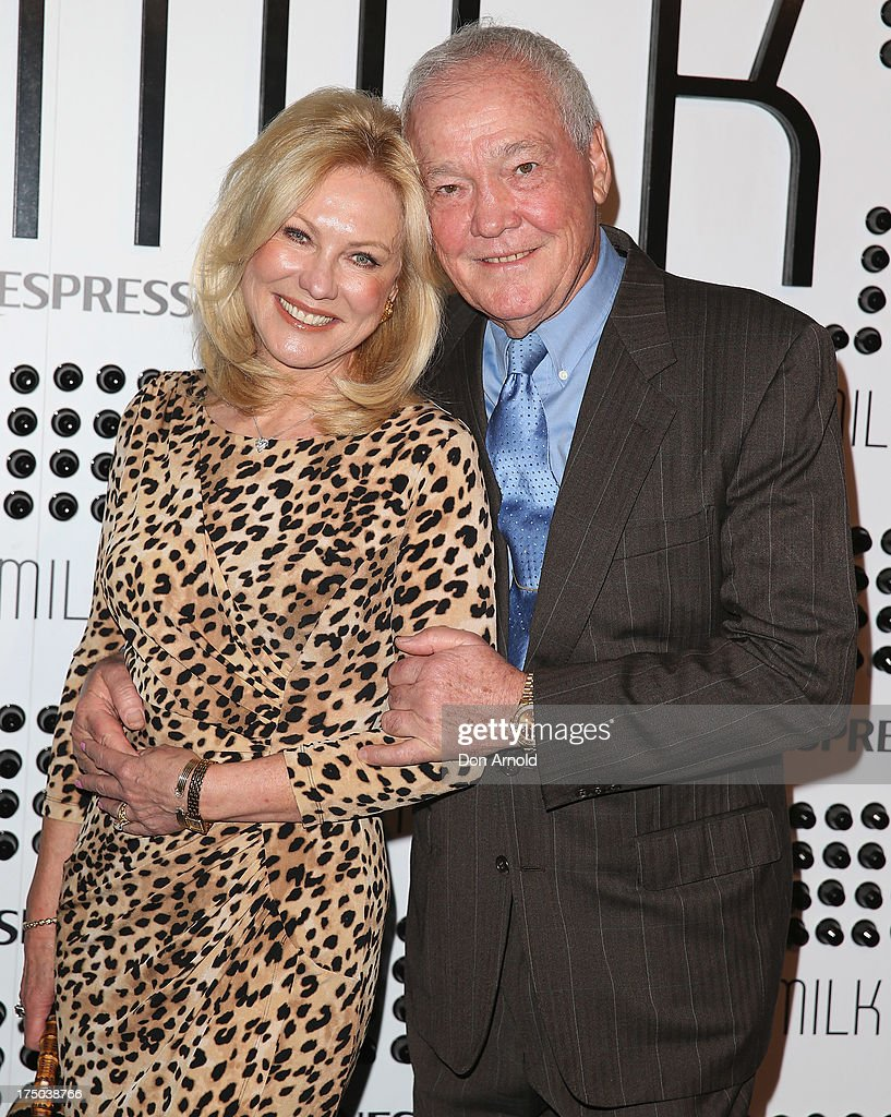Kerri-Anne Kennerley and <a gi-track='captionPersonalityLinkClicked' href=/galleries/search?phrase=John+Kennerley&family=editorial&specificpeople=241492 ng-click='$event.stopPropagation()'>John Kennerley</a> arrive at the Nespresso Umilk machine launch on July 30, 2013 in Sydney, Australia.