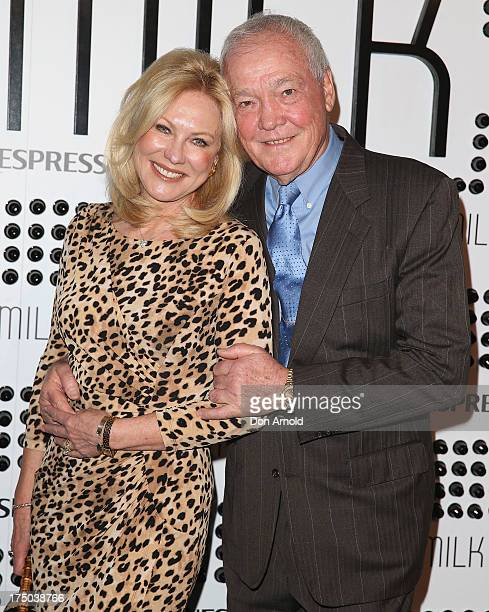 KerriAnne Kennerley and John Kennerley arrive at the Nespresso Umilk machine launch on July 30 2013 in Sydney Australia