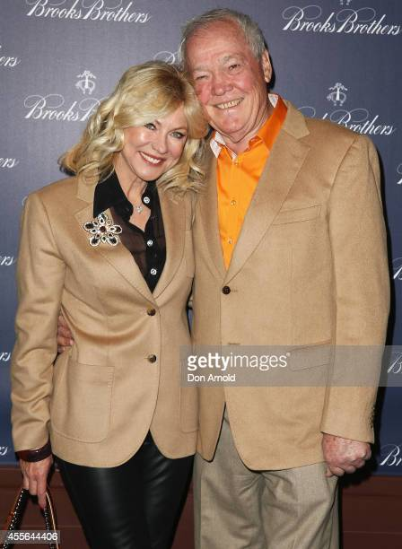 KerriAnne Kennerley and John Kennerley arrive to celebrate the opening of the Australian flagship store on September 18 2014 in Sydney Australia
