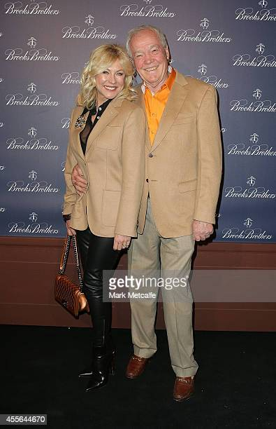KerriAnne Kennerley and John Kennerley arrive to celebrate the opening of Brooks Brothers Australian flagship store on September 18 2014 in Sydney...