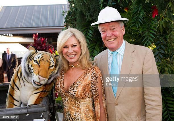 KerriAnne Kennerley and John Kennerley pose at Taronga Zoo Fund Raiser 'Zoofari' on November 23 2012 in Sydney Australia