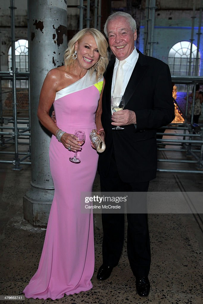 Kerri-Anne Kennerley and John Kennerley pose before the 12th ASTRA Awards at Carriageworks on March 20, 2014 in Sydney, Australia.