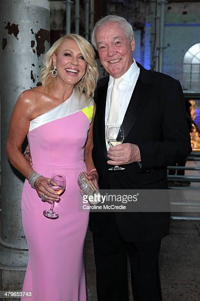 KerriAnne Kennerley and John Kennerley pose before the 12th ASTRA Awards at Carriageworks on March 20 2014 in Sydney Australia