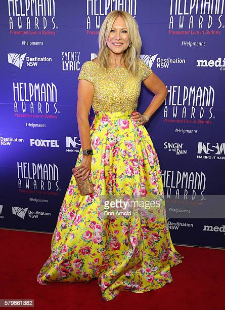 KerriAnne Kennerley arrives ahead of the 16th Annual Helpmann Awards at Lyric Theatre Star City on July 25 2016 in Sydney Australia