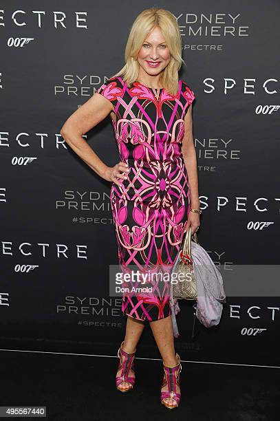 KerriAnne Kennerley arrives ahead of the Australian premiere of the latest James Bond film 'SPECTRE' on November 4 2015 in Sydney Australia