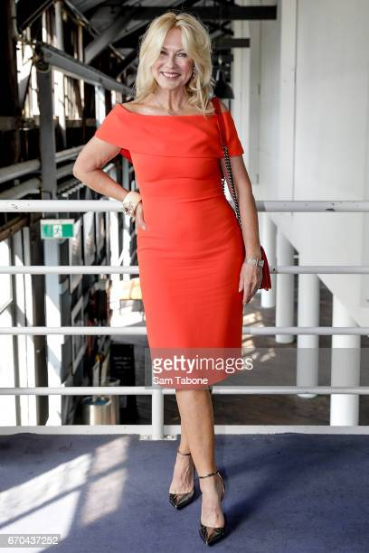 KerriAnne Kennerley arrives ahead of the Carla Zampatti Spring Summer 2017 Show at Sydney Theatre Company on April 20 2017 in Sydney Australia