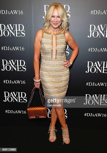 KerriAnne Kennerley arrives ahead of the David Jones Autumn/Winter 2016 Fashion Launch at David Jones Elizabeth Street Store on February 3 2016 in...