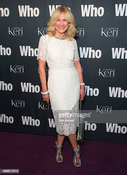 KerriAnne Kennerley arrives ahead of WHO Australia's Most Intriguing People 2015 party at Ananas on November 11 2015 in Sydney Australia
