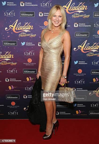 KerriAnne Kennerley arrives at Aladdin And His Wondrous Lamp opening night at the State Theatre on July 3 2015 in Sydney Australia