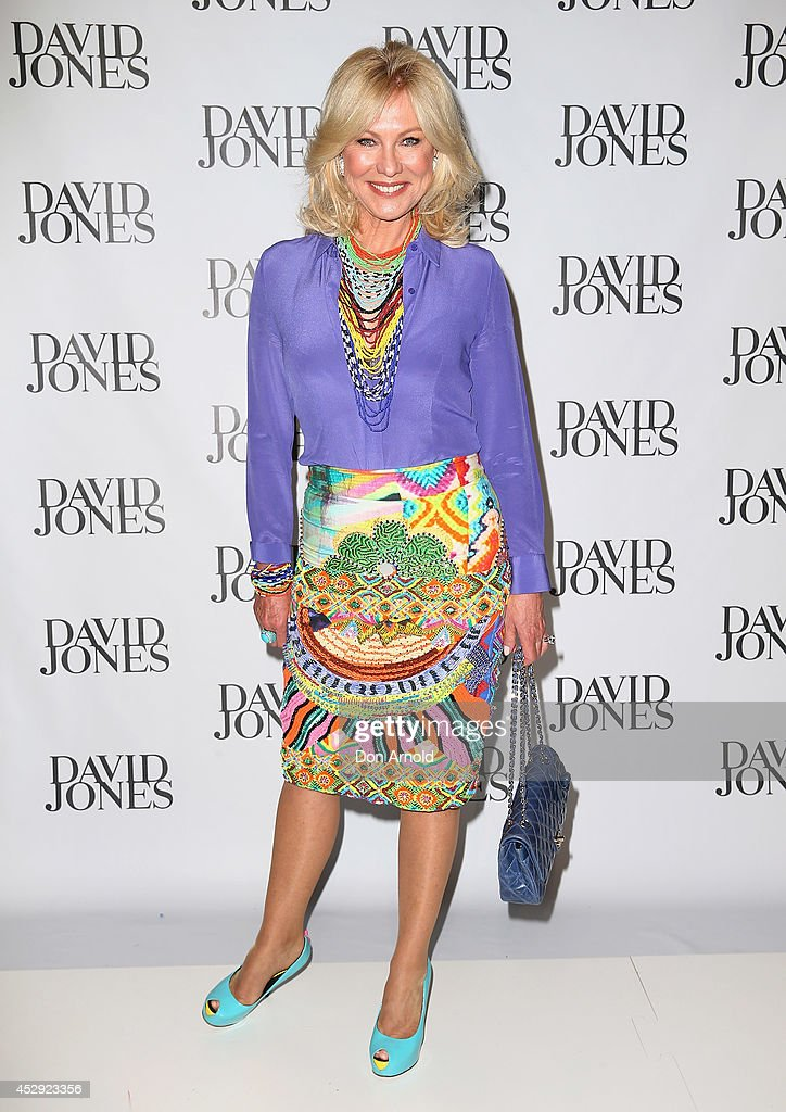 KerriAnne Kennerley arrives at the David Jones Spring/Summer 2014 Collection Launch at David Jones Elizabeth Street Store on July 30 2014 in Sydney...