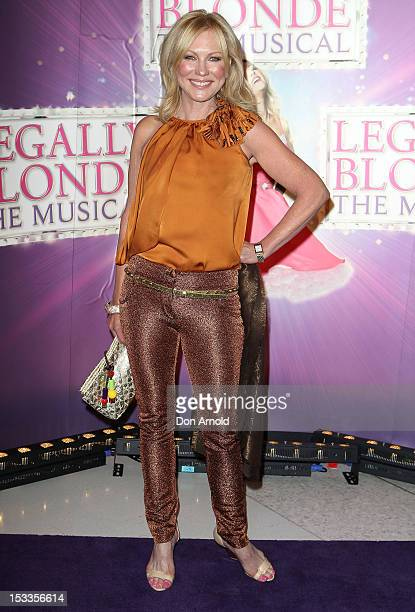 KerriAnne Kennerley arrives for the Australian Gala Premiere of 'Legally Blonde The Musical' at The Lyric Theatre on October 4 2012 in Sydney...