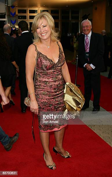 KerriAnne Kennerley arrives for the Australian premiere of 'Quantum of Solace' at the Hoyts Cinema in the Entertainment Quarter on November 15 2008...