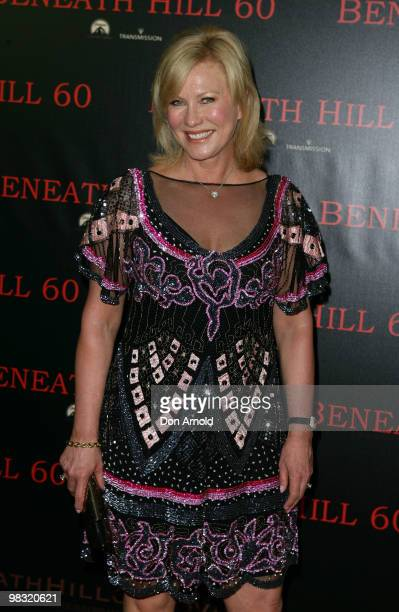 KerriAnne Kennerley arrives for the premiere of ' Beneath Hill 60' at Event Cinemas George Street on April 8 2010 in Sydney Australia