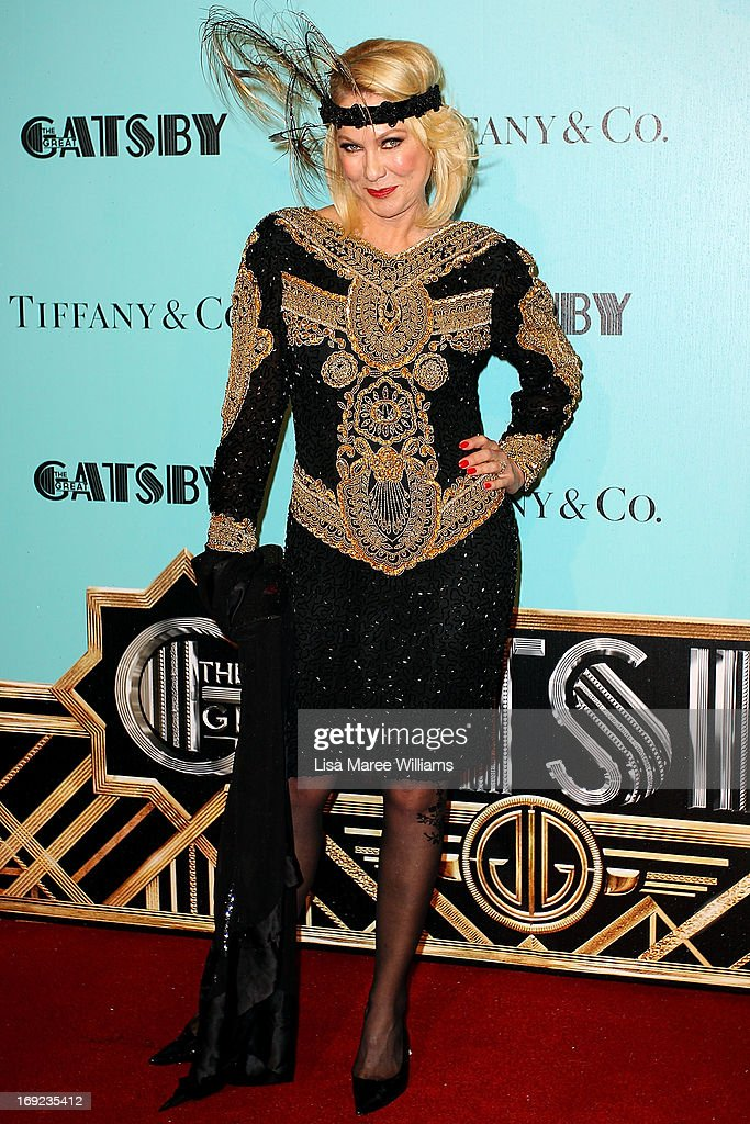 Kerri-Anne Kennerley attends the 'Great Gatsby' Australian premiere at Moore Park on May 22, 2013 in Sydney, Australia.