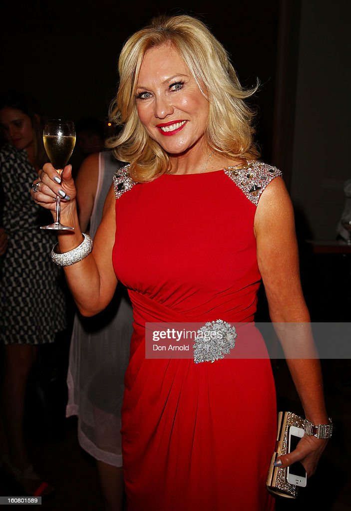 Kerri-Anne Kennerley poses at the post show drinks during the David Jones A/W 2013 Season Launch at David Jones Castlereagh Street on February 6, 2013 in Sydney, Australia.