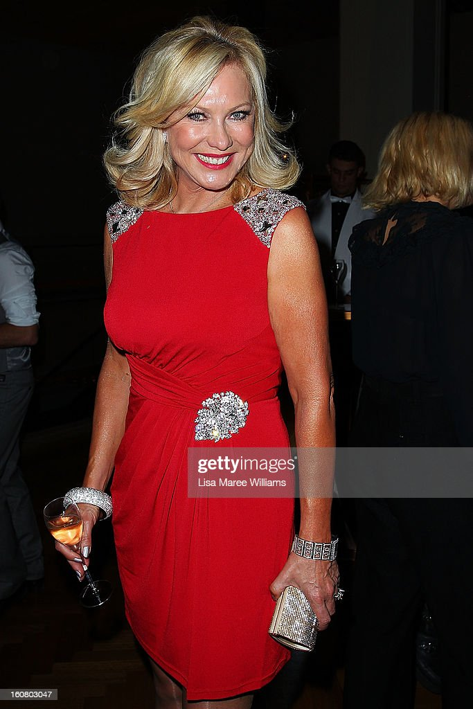 Kerri-Anne Kennerley poses during post show drinks at the David Jones A/W 2013 Season Launch at David Jones Castlereagh Street on February 6, 2013 in Sydney, Australia.