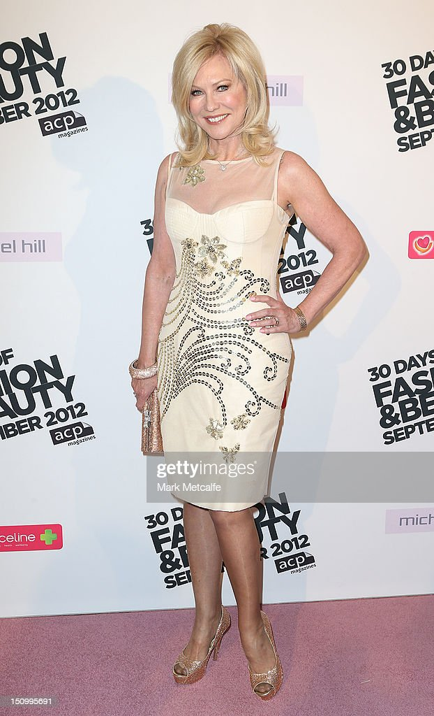 Kerri-Anne Kennerley poses during the 30 Days of Fashion & Beauty Launch at Sydney Town Hall on August 30, 2012 in Sydney, Australia.