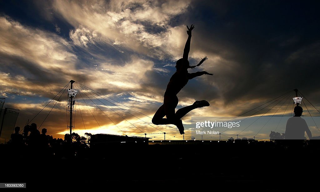 Kerrie Perkins of the ACT competes in the womens Long Jump during the Sydney Track Classic at Sydney Olympic Park Sports Centre on March 9, 2013 in Sydney, Australia.