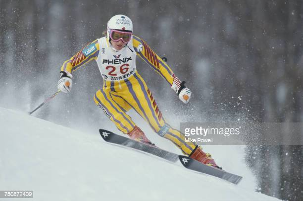 Kerrin LeeGartner of Canada on the edges of her skis during the Women's Giant Slalom event at the FIS Alpine World Ski Championships on 10 February...