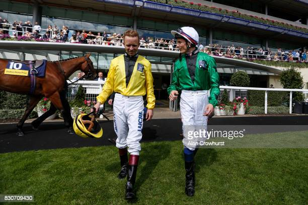 Kerrin McEvoy and Fran Berry at Ascot racecourse on Shergar Cup Day on August 12 2017 in Ascot England