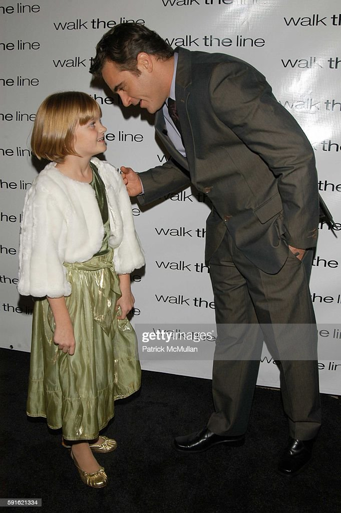 Kerris Dorsey and Joaquin Phoenix attend Walk the Line inside arrivals at Beacon on November 13 2005 in New York
