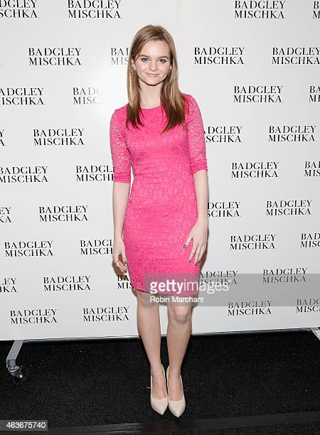 Kerris Dorsey attends Badgley Mischka Fashion Show at The Theatre at Lincoln Center on February 17 2015 in New York City
