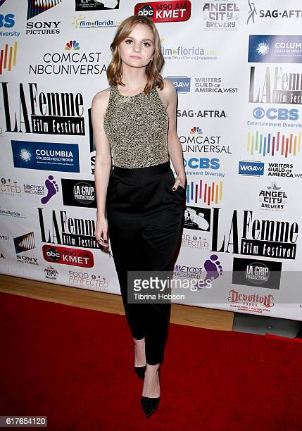 Kerris Dorsey attends the 12th annual La Femme International Film Festival closing ceremony at The Los Angeles Theatre Center on October 23 2016 in...