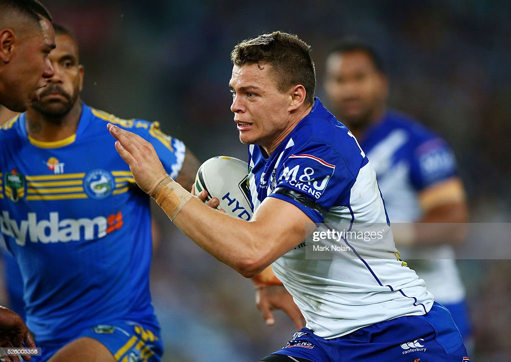 Kerrod Holland of the Bulldogs in action during the round nine NRL match between the Parramatta Eels and the Canterbury Bulldogs at ANZ Stadium on April 29, 2016 in Sydney, Australia.