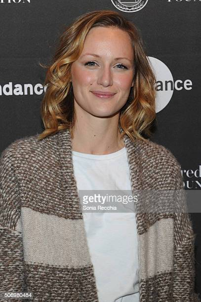 Kerry Bishe attends the Alfred P Sloan Foundation Reception and Prize Announcement during the 2016 Sundance Film Festival at High West Distillery on...