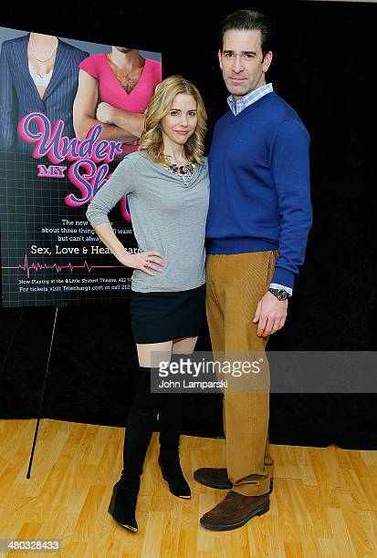 Kerry Butler and Matt Walton attend the 'Under My Skin' Cast Meet Greet on March 24 2014 in New York City