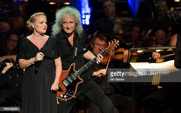 Kerry Ellis and Brian May perform at 'A Life In Song Lyrics By Don Black' at the Royal Festival Hall on October 3 2013 in London England