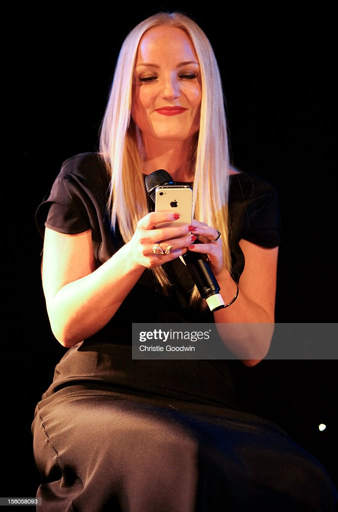 Kerry Ellis performs on stage as part of the Kerry Ellis & Brian May Born Free Tour at the Union Chapel on November 11, 2012 in London, England.