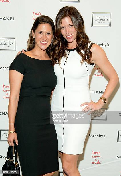 Kerry Green and Amy Pollack attend 2013 'Take Home A Nude' Benefit Art Auction And Party at Sotheby's on October 8 2013 in New York City
