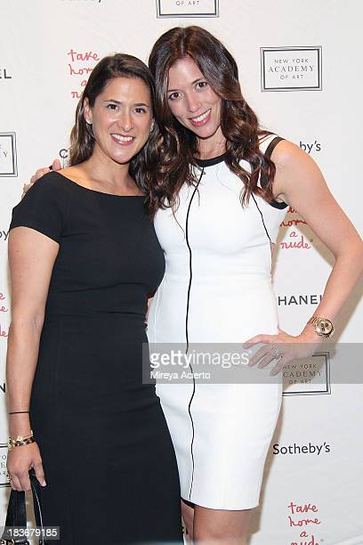 Kerry Green and Amy Pollack attend the 2013 'Take Home A Nude' Benefit Art Auction And Party at Sotheby's on October 8 2013 in New York City