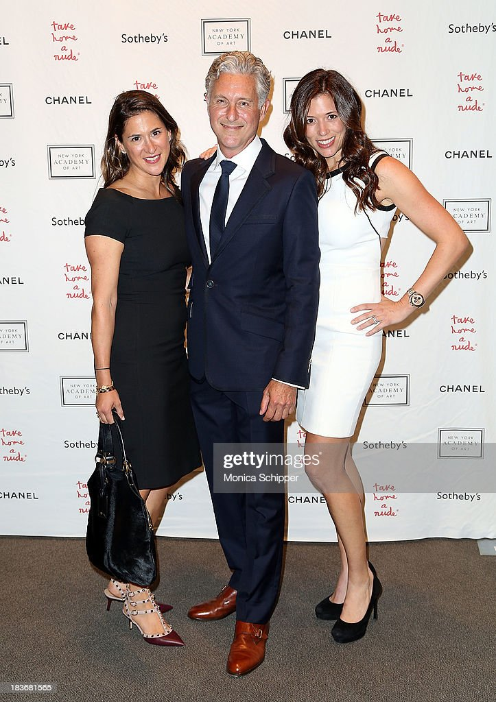 Kerry Green, David Kratz and Amy Pollack attend 2013 'Take Home A Nude' Benefit Art Auction And Party at Sotheby's on October 8, 2013 in New York City.