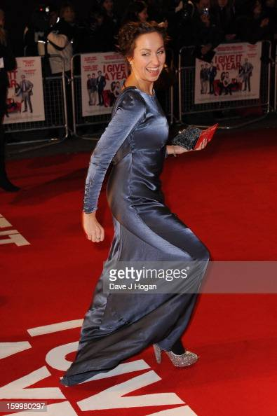 Kerry Howard attends the European premiere of 'I Give It A Year' at The Vue West End on January 24 2013 in London England