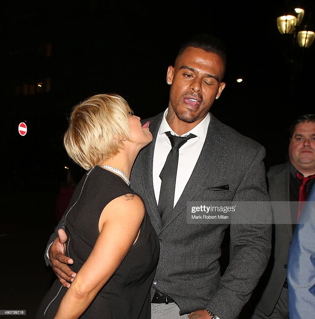 Kerry Katona and George Kay at the Reality TV awards on September 30 2015 in London England