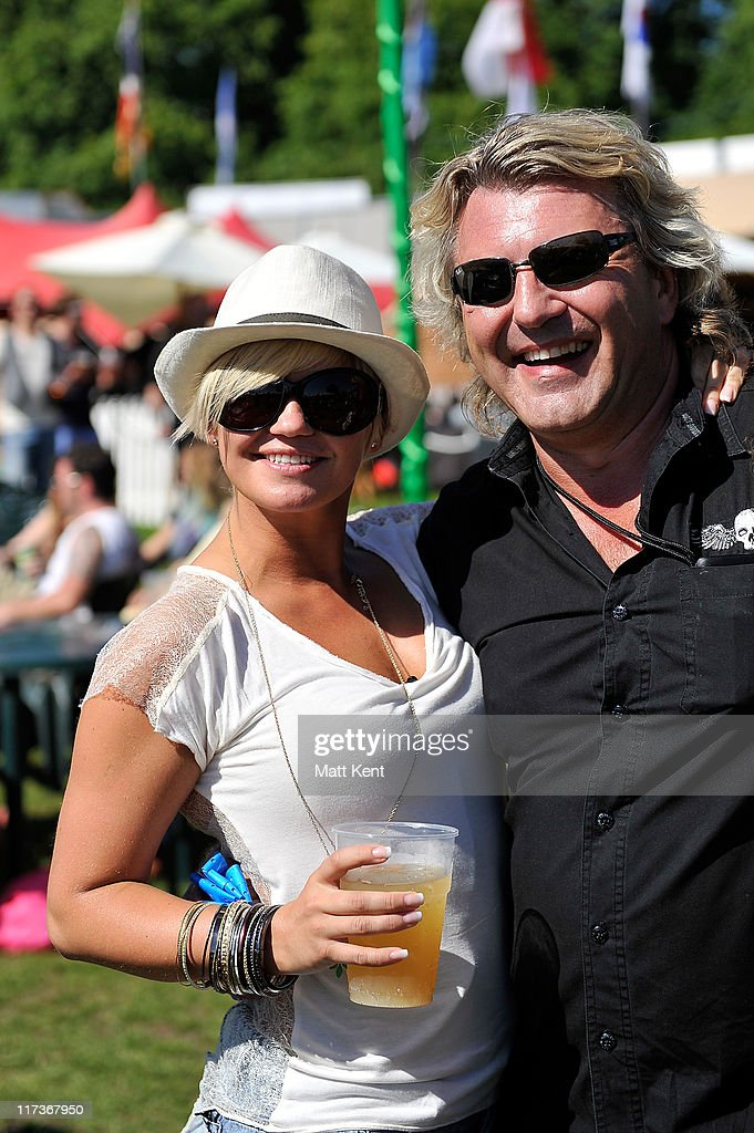 Kerry Katona and Mark Fuller attends day three of Hard Rock Calling at Hyde Park on June 26 2011 in London England