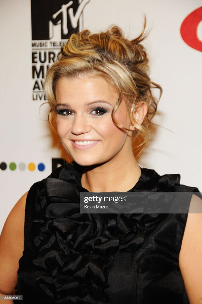 Kerry Katona arrives for the 2008 MTV Europe Music Awards held at at the Echo Arena on November 6 2008 in Liverpool England