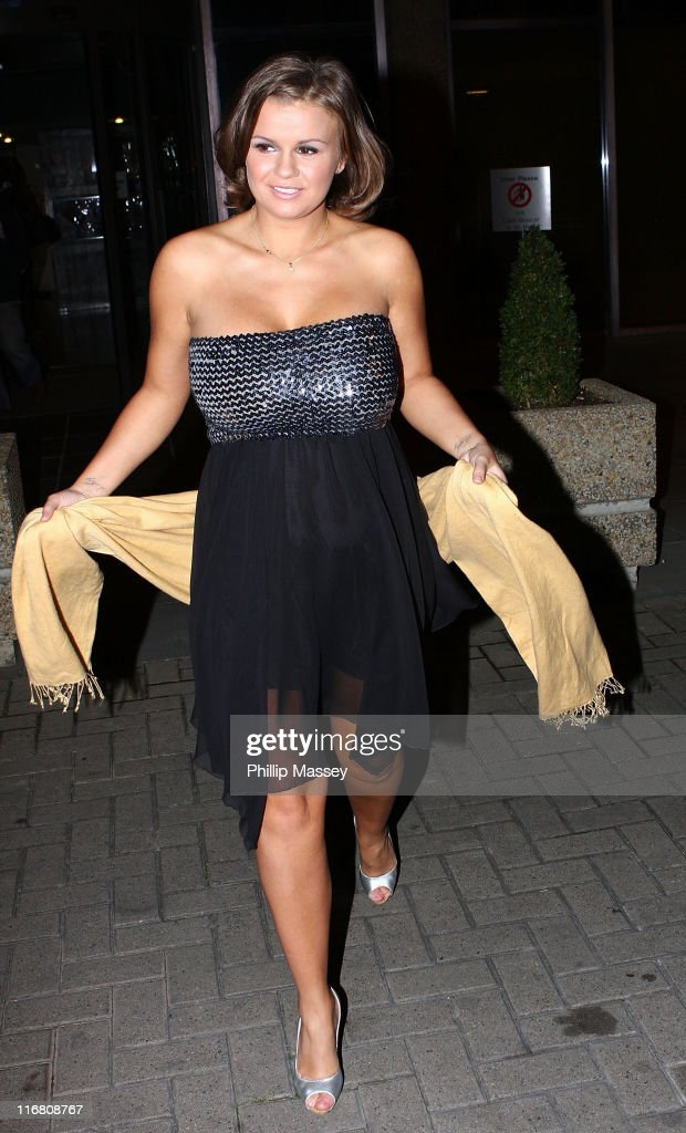 Kerry Katona at the Late Late Show at the RTE Studios on October 19 2007 in Dublin Ireland