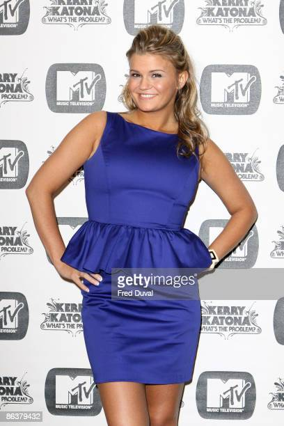 Kerry Katona attends a photocall to promote her latest MTV reality show ' Kerry Katona What�s The Problem' at the Charlotte Street Hotel on May 5...