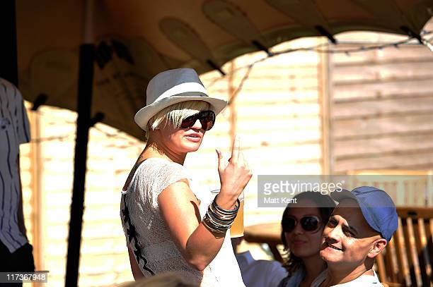 Kerry Katona attends day three of Hard Rock Calling at Hyde Park on June 26 2011 in London England