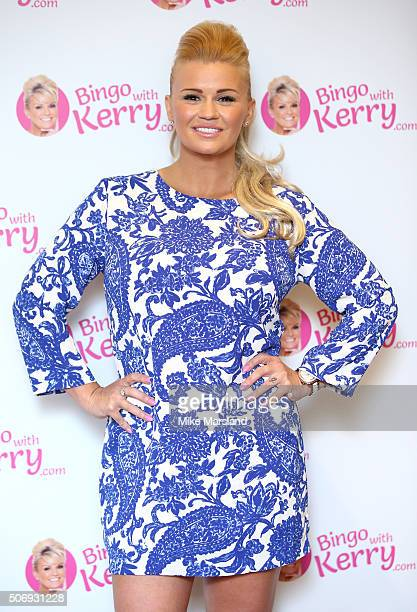 Kerry Katona attends the launch of her new venture 'Bingo with Kerry' on January 26 2016 in London England
